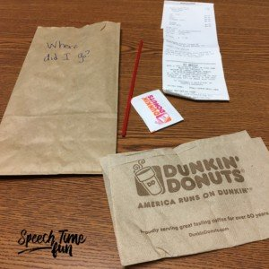 Here a new speech and language therapy activity you probably haven't thought of: using receipts in your speech activities! Receipts are a super simple, low prep way to target many different speech and language skills. Read this blog post to get lots of ideas for using receipts in speech therapy in engaging ways!