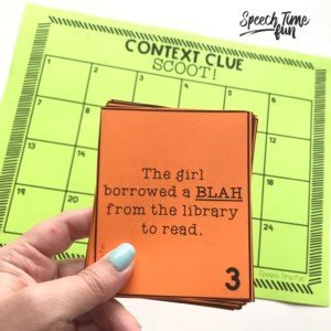 Context Clues Scoot Freebie