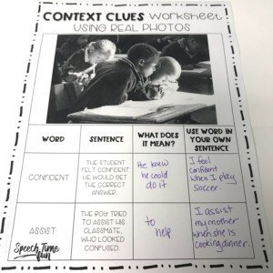 If you need a fresh idea for teaching context clues, then try using pictures! Pictures are an engaging and alternative method for building vocabulary, and they don't really require reading! This blog post provides personal insight on teaching context clues using pictures in speech therapy, so read more here!