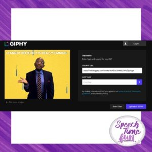 Looking for ways to make your speech lessons more relevant and engaging for your students? Try using GIPHY in speech therapy! Adding GIFs into your lessons can make learning speech and language skills more intriguing and entertaining for students - and probably for you, too! Read this blog post to learn more.