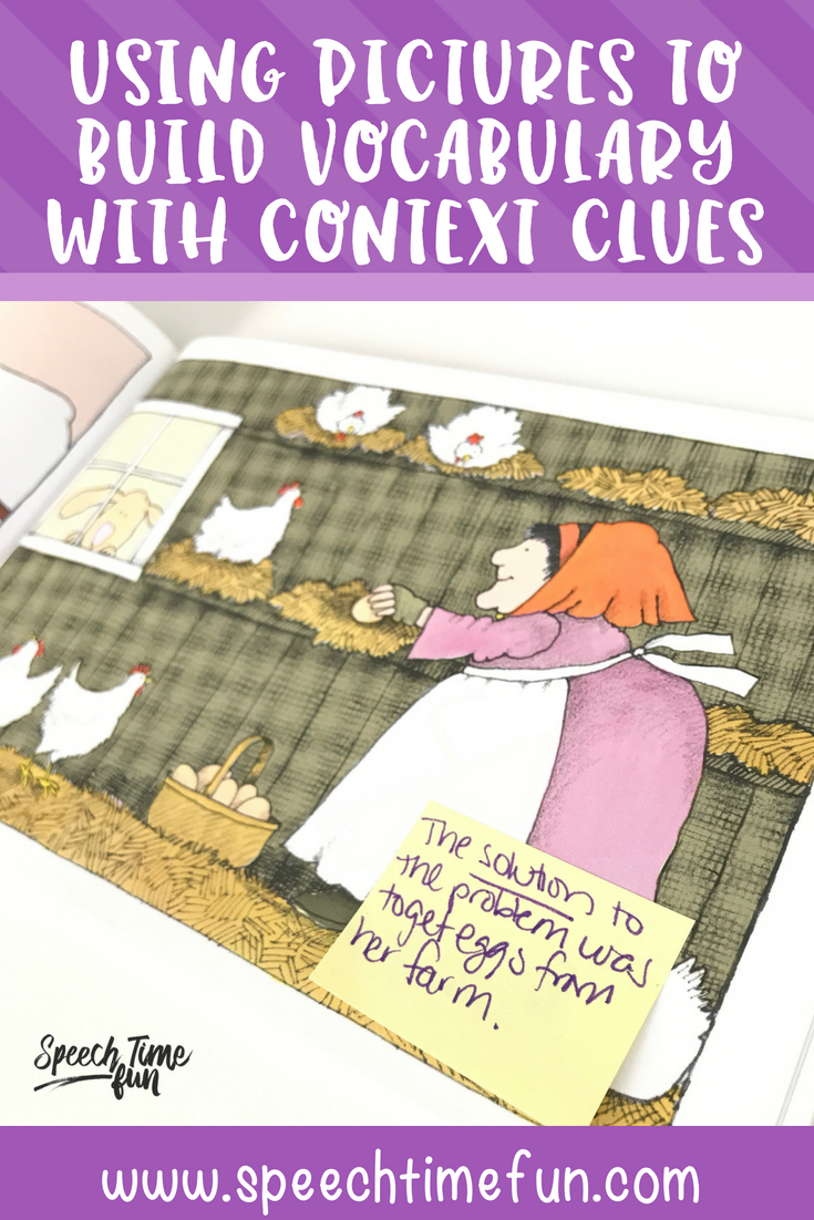 Using Pictures to Build Vocabulary with Context Clues in Speech Therapy