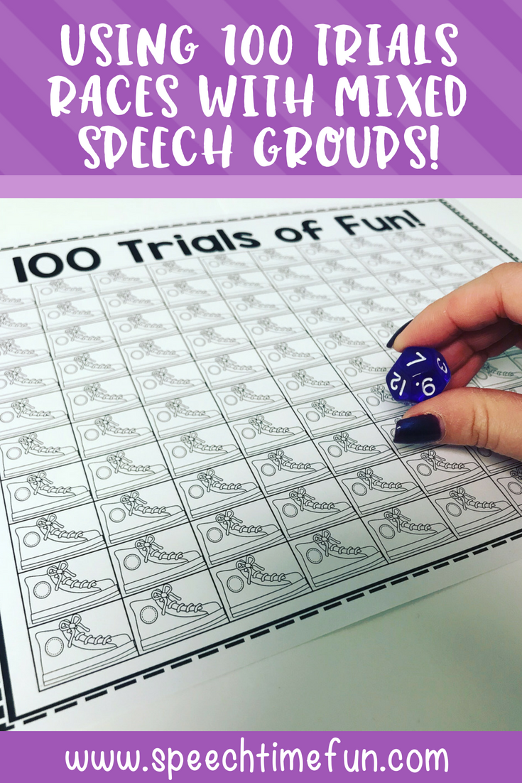 Using 100 Trial Races with Mixed Speech and Language Therapy Groups