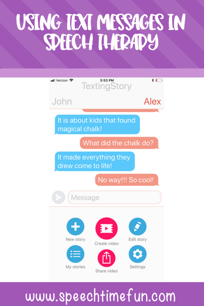 Using Text Messages in Speech Therapy