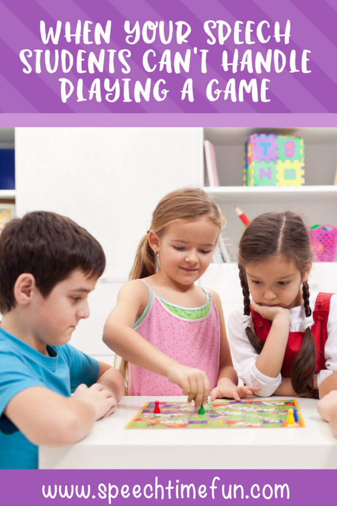 Games are a fantastic way to make speech therapy engaging and authentic for our speech students. But, sometimes, our speech students can't handle playing a game because of behavior issues. This blog post shares classroom management tips to help SLPs overcome behavior management issues to ensure games can be played! Click through to read the post.