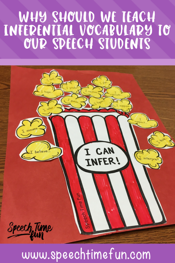 Why Should We Teach Inferential Vocabulary To Our Speech Students