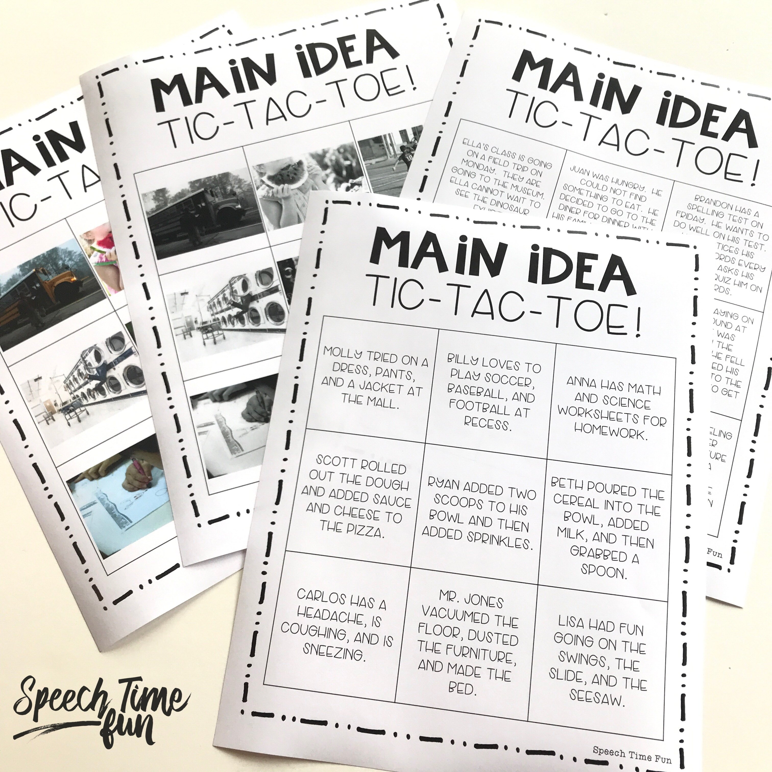Where to Start When Working On Main Idea In Speech Therapy