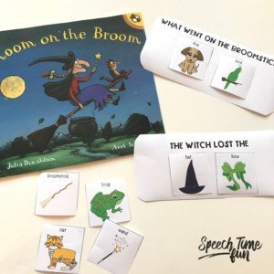adapting storybooks to work on comprehension with students with limited verbal skills in speech therapy