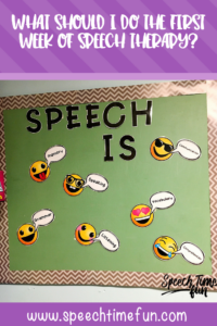 what should I do the first week of speech therapy