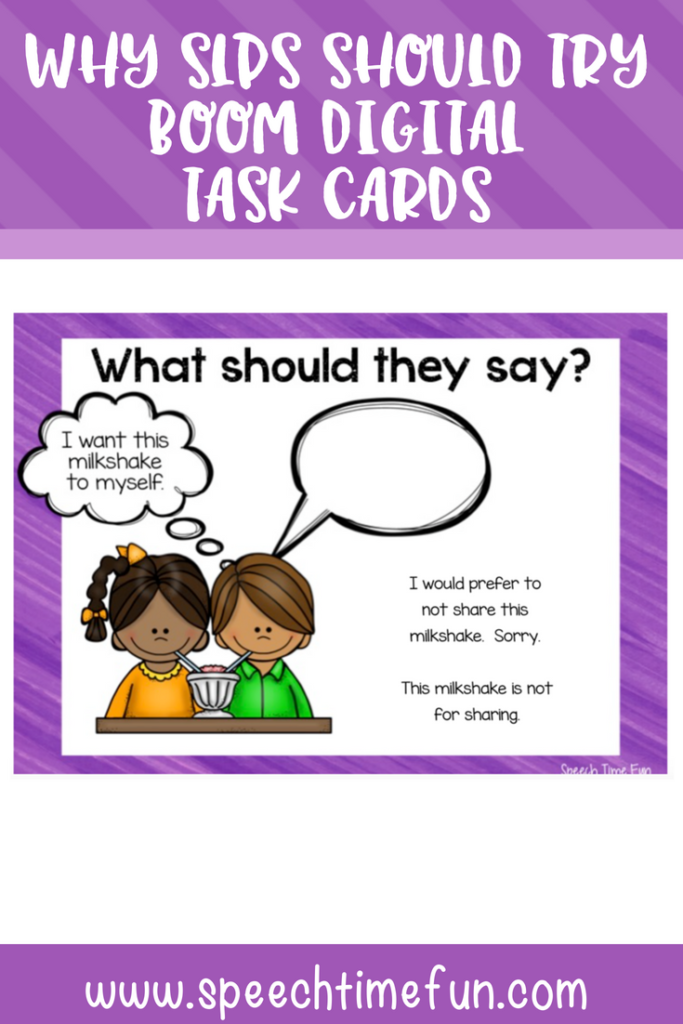 Do you have tablets or other technological devices in your speech room? Using digital task cards with the Boom Learning platform is a great way to meet students' needs and integrate technology! This post explains how SLPs can use digital task cards in speech therapy, as well as specific tips for using Boom Learning. Click through to get all of the information!