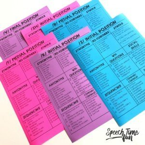 Using cheat sheets to make mixed speech groups work