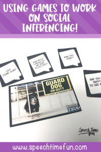 Using Games to Work on Social Inferencing in Speech Therapy