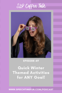 winter themed activities for SLP