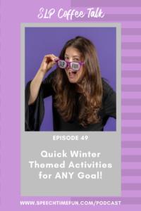 winter themed activities for SLP