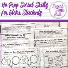 no prep social skills for older speech students