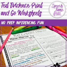 text evidence worksheets