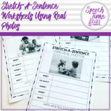 stretch a sentence worksheets