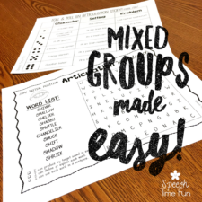 Mixed Groups Made Easy - Speech Time Fun